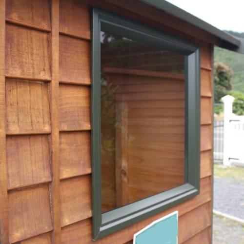 Fixed garden shed window